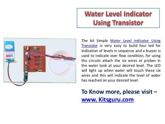 Water level indicator using transistor - Electronics project - Kitsgu…