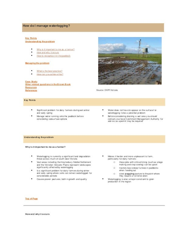 water logging and salinity Reports on assessment of water logging and salinity in major and medium irrigation commands of different states are available sepeartely a consolidated report is available for all the union territories and north eastern states.