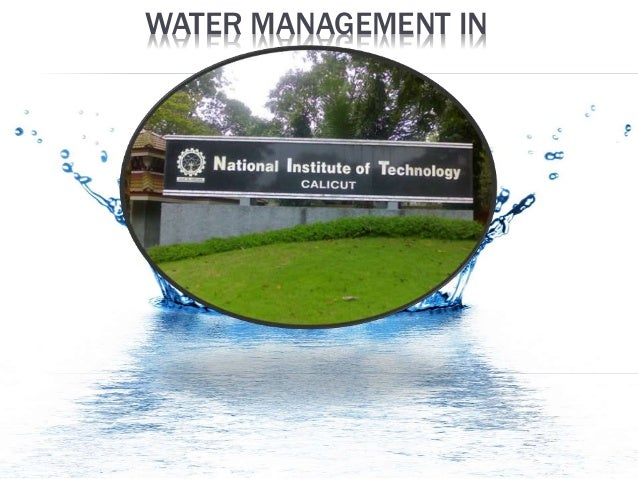 WATER MANAGEMENT IN