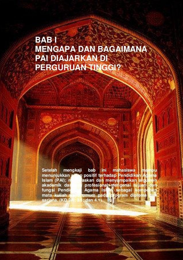 Pendidikan Agama Islam Dalam Perguruan Tinggi