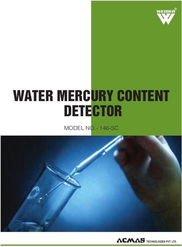 R  WATER MERCURY CONTENT DETECTOR MODEL NO.- 146-SC