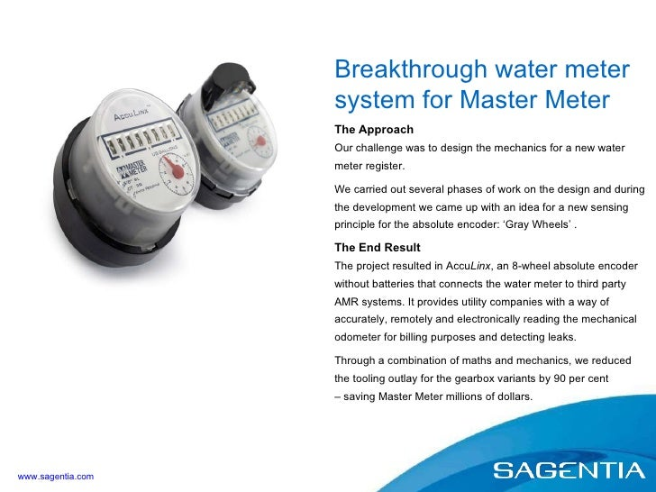 The Approach Our challenge was to design the mechanics for a new water meter register. We carried out several phases of wo...
