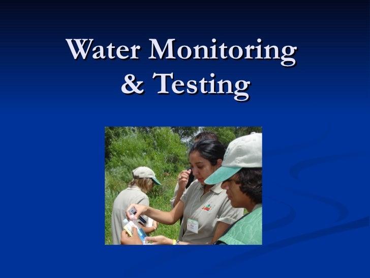 Water Monitoring  & Testing