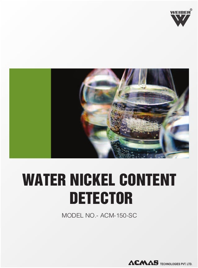 R  WATER NICKEL CONTENT DETECTOR MODEL NO.- ACM-150-SC