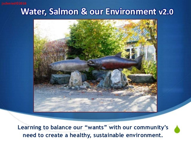 """S Water, Salmon & our Environment v2.0 Learning to balance our """"wants"""" with our community's need to create a healthy, sust..."""