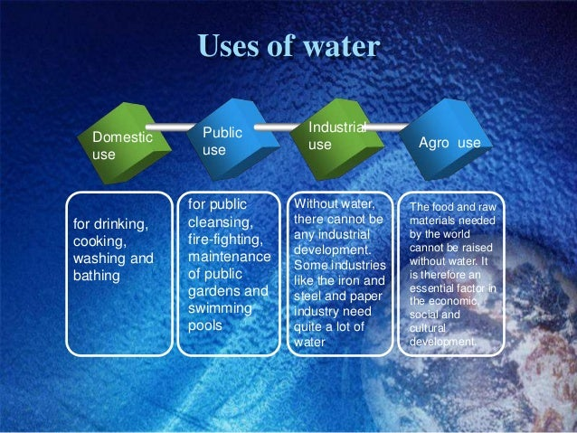 the uses of water in living organisms essay Free essay: the roles of water in living organisms and as an environment for the organisms without water there would be no life on earth this is why water.