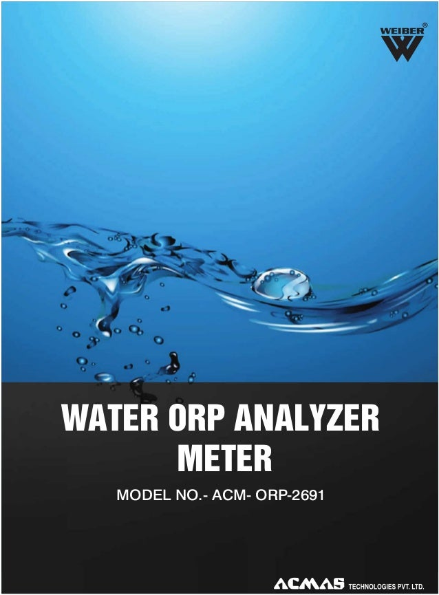 R  WATER ORP ANALYZER METER MODEL NO.- ACM- ORP-2691