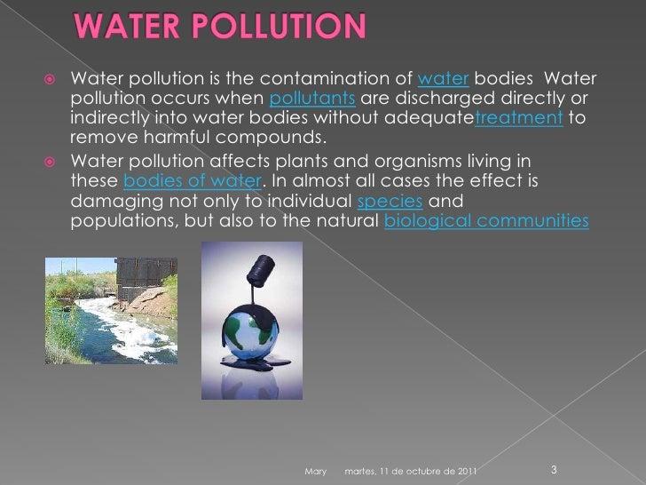 Water pollution Slide 3