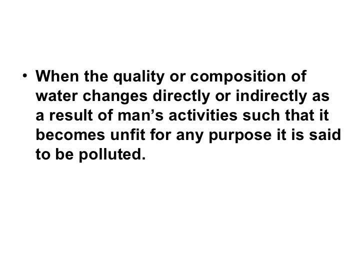 Реферат water pollution