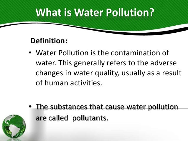 Water pollution.pp .