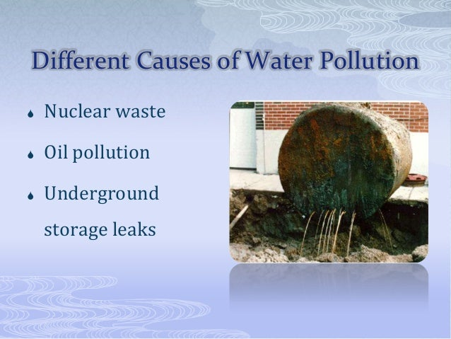 sources and causes of water pollution Wastewater treatment plants process water from homes and businesses, which contains nitrogen and phosphorus from human waste, food and certain soaps and detergents, and they can be a major.