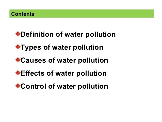 a description of water pollution Advances in water pollution research features the 71 papers presented at the  sixth international  these papers were those selected  read full description.