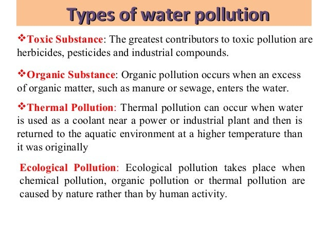 where does thermal pollution occur