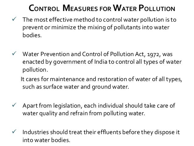 explain the methods of controlling pollution Do not pour fat from cooking or any other type of fat, oil, or grease down the sink keep a fat jar under the sink to collect the fat and discard in the solid waste when fulldo not dispose of household chemicals or cleaning agents down the sink or toilet.