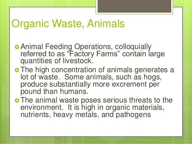 Treatment Technologies for Organic Wastewater