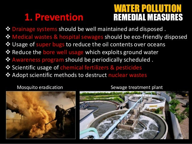 WATER POLLUTION - HUMAN IMPACT & REMEDIES (Benz Jr.)