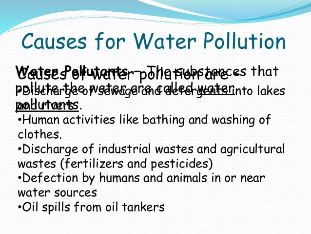 causes and effect of water pollution essay Kids learn about water pollution and how it effects the environment and health study causes, pollutants, sources, and facts including acid rain.