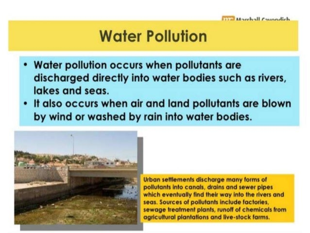 Water pollution due to sewage