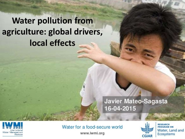 Photo:TomvanCakenberghe/IWMI www.iwmi.org Water for a food-secure world Javier Mateo-Sagasta 16-04-2015 Water pollution fr...
