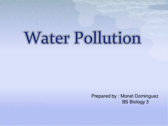water pollution ppt, Presentation templates