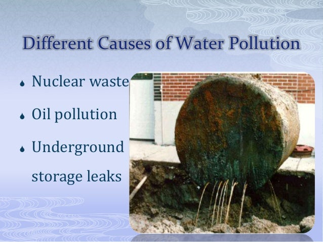 Water pollution ppt