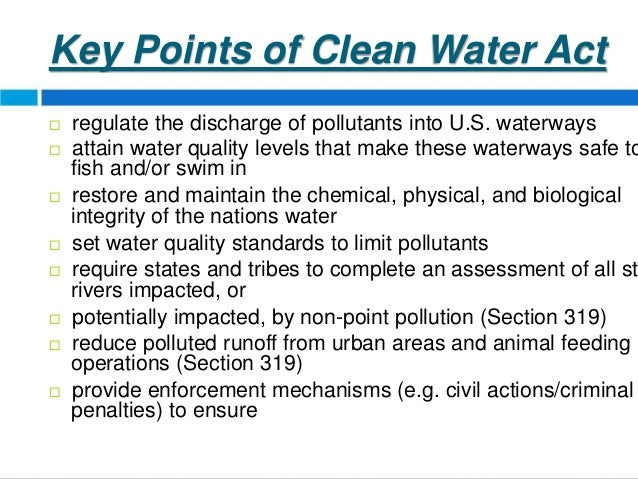 a report on the clean water act Far cry 5 - clean water act | find a way in the pump rooms, destroy rooms tof gaming need to report the video sign in to report inappropriate content.