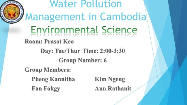Water Pollution Management in Cambodia