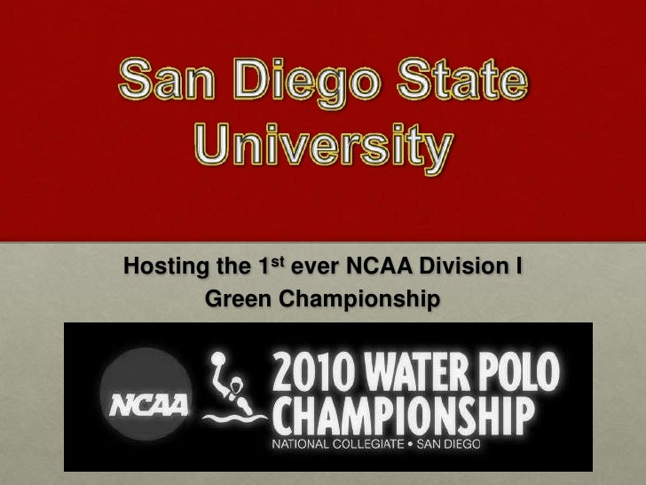 Hosting the 1 st  ever NCAA Division I  Eco-Friendly Championship
