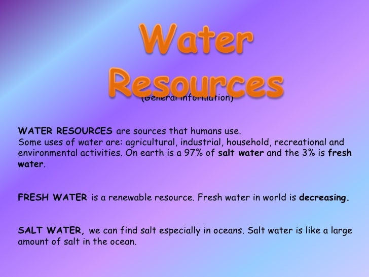 presentation about water
