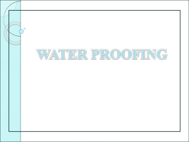Water-proofing  Building water-proofing is a process which is designed to prevent water from penetrating a building.  Us...