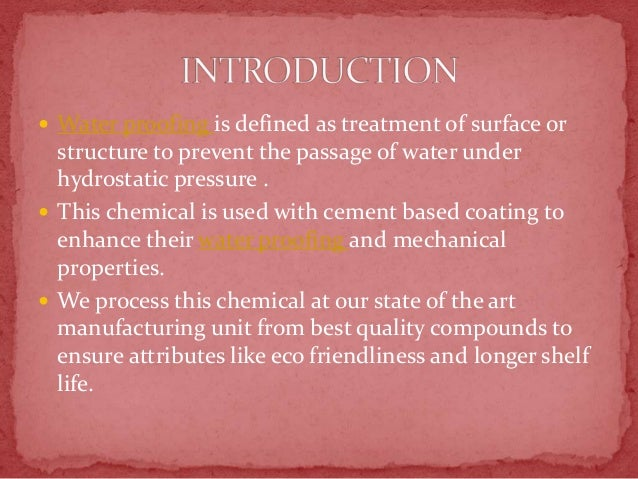 Water proofing chemical wholesalers in Chennai,Bangalore, Hyderabad,C…