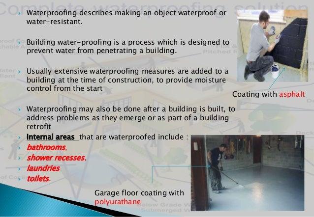 Waterproofing copmound