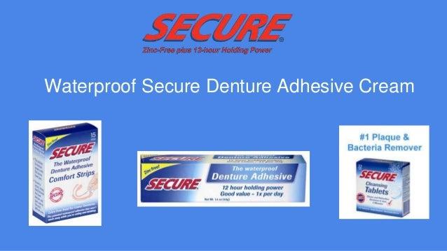 Secure Denture Adhesive >> Waterproof Secure Denture Adhesive Cream