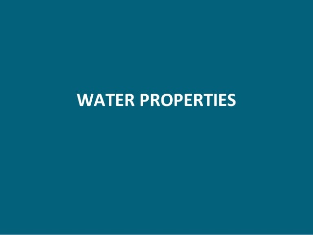 WATER PROPERTIES