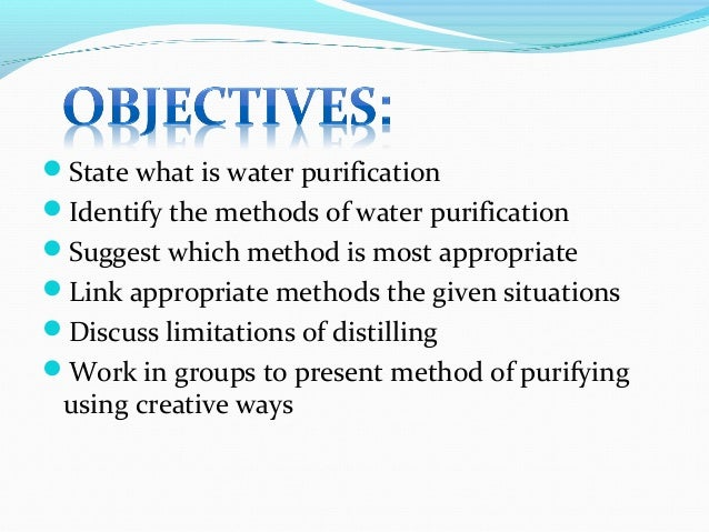 Water Purification Methods