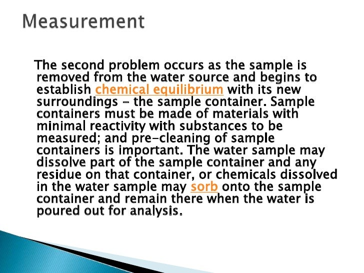 """Filtering a manually collected water sample(""""grab sample"""") for analysis"""
