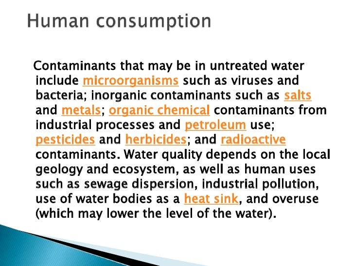 The United States Environmental Protection Agency (EPA)limits the amounts of certain contaminants in tap waterprovided by ...