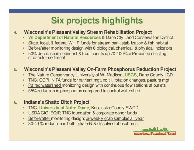 Water Quality Targeting Success Stories Perez