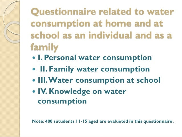 Water questionnaire