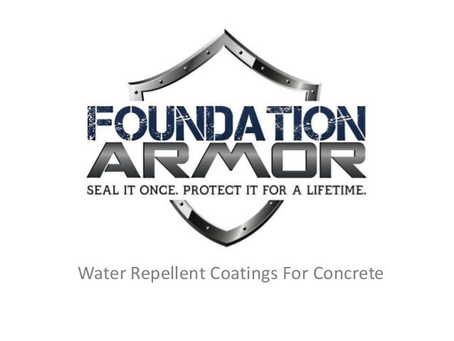 Water Repellent Coatings For Concrete