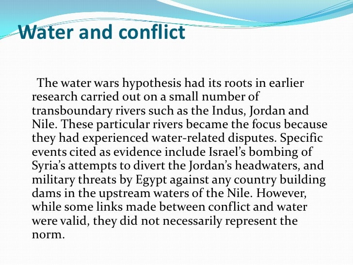 hypothesis of water pollution