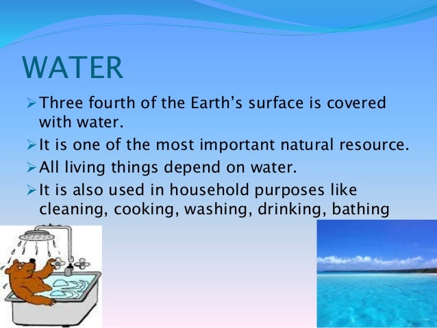 Earth s natural resource water