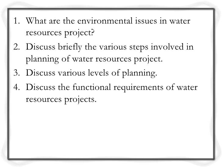 sci275 water resource plan Mitigation strategies and solutions topic: energy conservation by: barry auman sci/275 the topic that selected is energy conservation because it is a big environmental problem that we need to work on to save the environment.