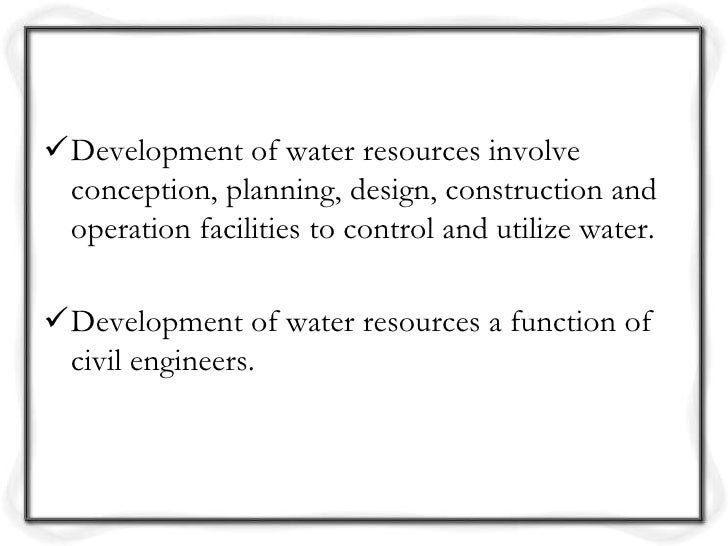 water resources dissertation planning This dissertation asks, to what degree can land planning contribute to outdoor  water demand management can principles of compact development and.