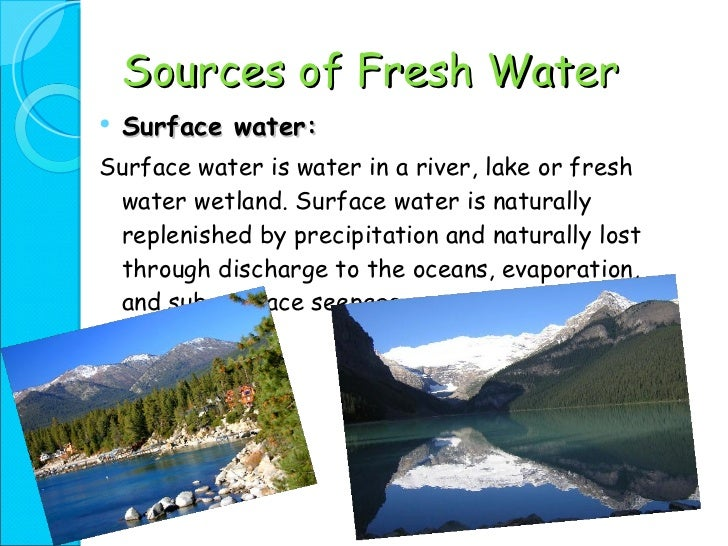 Water resources essay