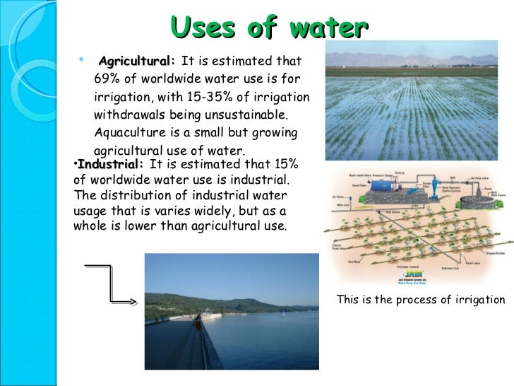 water resources power point presentation  16 uses of water