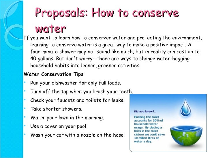 conservation of water resources essay Watershed resources essay print this can be various water conservation the inherent potential of soil and water resources in a particular area is.
