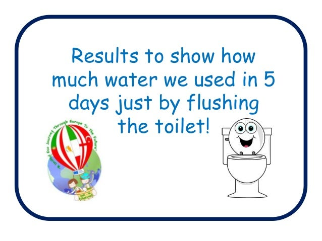 Results to show how much water we used in 5 days just by flushing the toilet!
