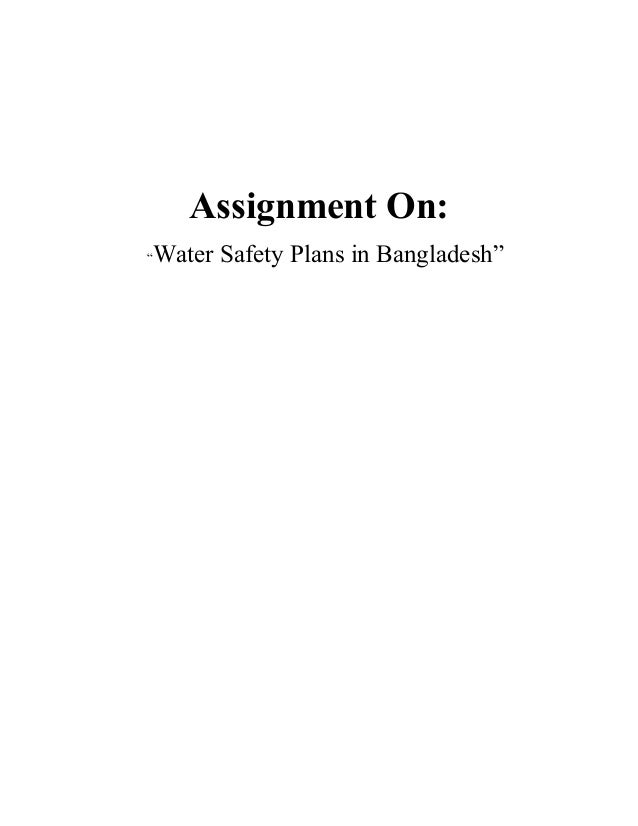 """Assignment On: """"Water Safety Plans in Bangladesh"""""""