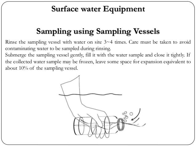 Rinse the sampling vessel with water on site 3~4 times. Care must be taken to avoid contaminating water to be sampled duri...